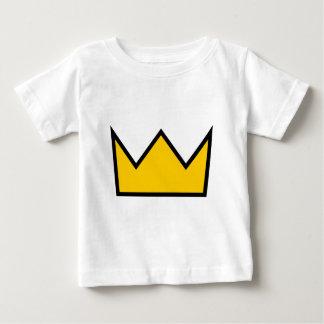 Camiseta De Bebé Corona amarilla