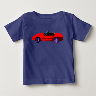 Camiseta De Bebé Corvette rojo