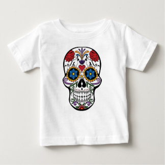 Camiseta De Bebé Cráneo colorido del azúcar