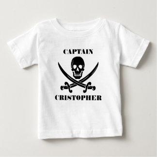 Camiseta De Bebé Cráneo de la bandera de pirata