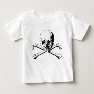 Camiseta De Bebé Cráneo de la bandera pirata