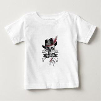 Camiseta De Bebé Cráneo gótico del estilo tribal con el gráfico de