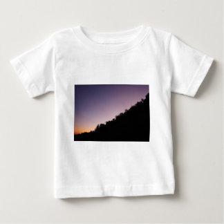 Camiseta De Bebé Crepúsculo del parque del barranco de Franklin