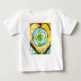 Camiseta De Bebé Cruces de Cartoids del fractal y la banda espiral