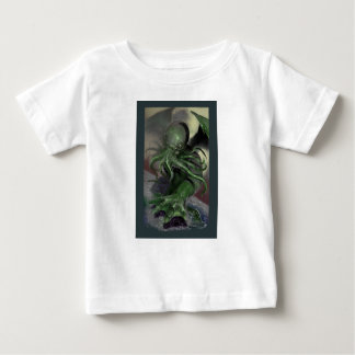Camiseta De Bebé Cthulhu caballo de fuerza de levantamiento