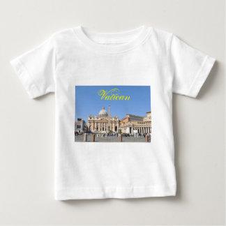 Camiseta De Bebé Cuadrado de San Pedro en Vatican, Roma, Italia