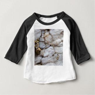 Camiseta De Bebé Cuarzo blanco con vetear del oro