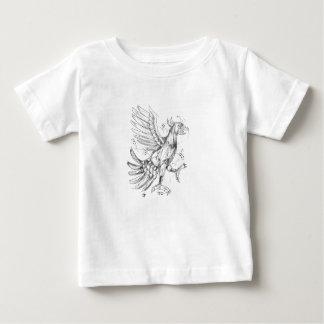 Camiseta De Bebé Cuauhtli Glifo Eagle que lucha el tatuaje de la