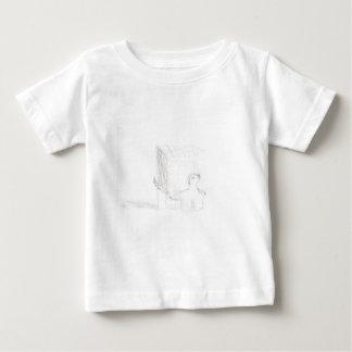 Camiseta De Bebé cubo de la tortuga de caja que dibuja Eliana