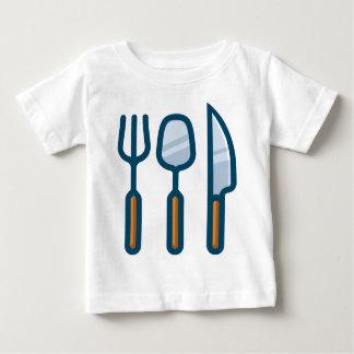 Camiseta De Bebé Cuchara y cuchillo de la bifurcación