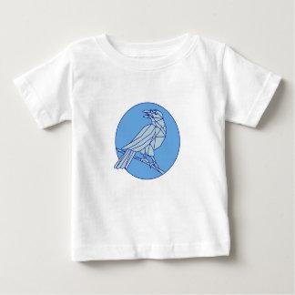 Camiseta De Bebé Cuervo que se encarama mirando la mono línea del