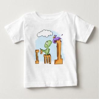 Camiseta De Bebé Cumpleaños de la diversión de Dino 1r