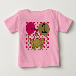 Camiseta De Bebé Cumpleaños de la rana de los chicas primer