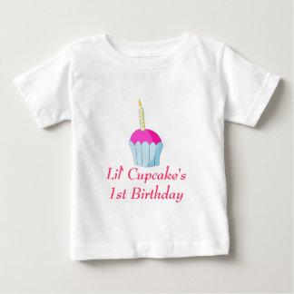 Camiseta De Bebé Cumpleaños de Lil Cupcake's1st