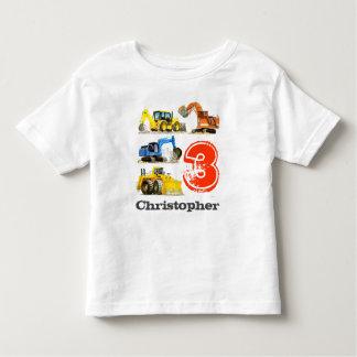 Camiseta De Bebé Cumpleaños de los cavadores gigantes de la