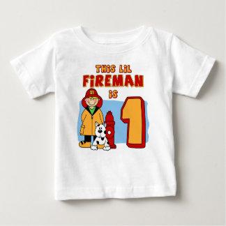 Camiseta De Bebé Cumpleaños del bombero de Lil 1r