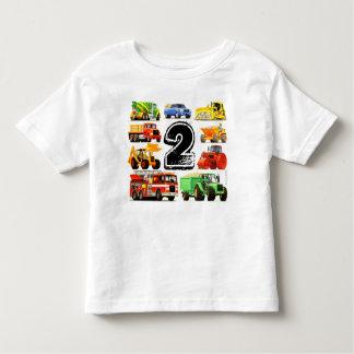 Camiseta De Bebé Cumpleaños del camión de la construcción del