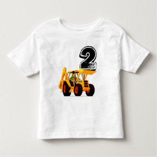 Camiseta De Bebé Cumpleaños del cavador amarillo de los niños 2do