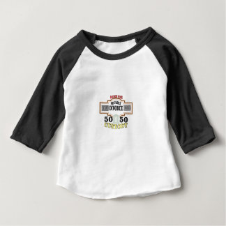 Camiseta De Bebé custodia 50 50 en boda