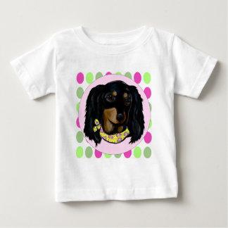 Camiseta De Bebé Dachshund negro de pelo largo de Pascua