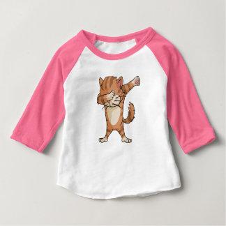 Camiseta De Bebé Danza linda de Dabber del gato del lenguado