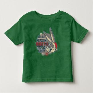 Camiseta De Bebé ™ de BUGS BUNNY - la razón allí es una lista