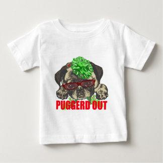 Camiseta De Bebé De Puggerd perrito del barro amasado hacia fuera