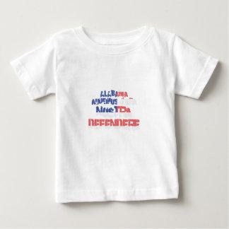 Camiseta De Bebé Defendere del nostra de Alabama Audemus el Jura