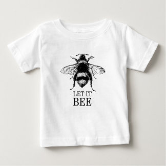 Camiseta De Bebé Dejado lo la naturaleza del vintage de la abeja
