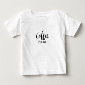 Camiseta De Bebé Del CAFÉ caligrafía POR FAVOR