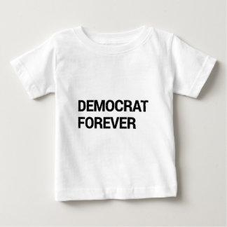 Camiseta De Bebé Demócrata para siempre