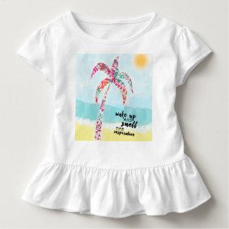 Camiseta De Bebé despierte y huela la inspiración, la playa y la