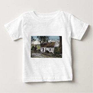 Camiseta De Bebé Día cubierto con paja irlandés del St. Patricks de