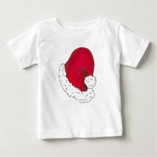 Camiseta De Bebé Día de fiesta rojo de Navidad de las Felices