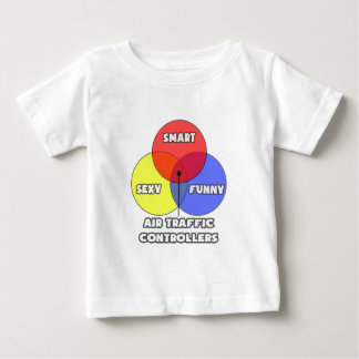 Camiseta De Bebé Diagrama de Venn. Controladores aéreos