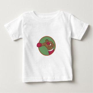 Camiseta De Bebé Dibujo afroamericano del círculo del gancho