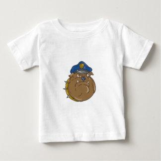 Camiseta De Bebé Dibujo animado de la cabeza del policía del dogo