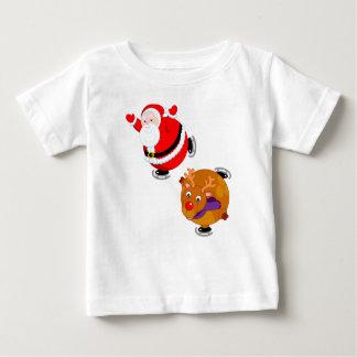 Camiseta De Bebé Dibujo animado de la diversión patinaje de hielo