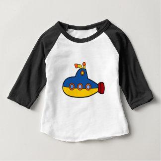 Camiseta De Bebé Dibujo animado del submarino del juguete