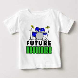Camiseta De Bebé Dibujo animado determinado del tambor azul futuro