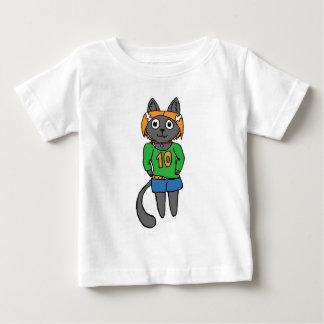 Camiseta De Bebé Dibujo animado lindo del gato de moda