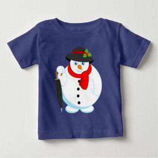 Camiseta De Bebé Dibujo animado moderno de la diversión del muñeco