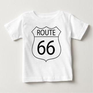 Camiseta De Bebé Dibujo de la muestra de la ruta 66