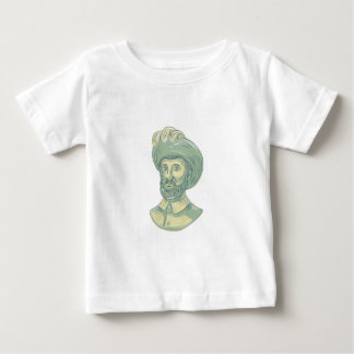 Camiseta De Bebé Dibujo del busto de Juan Sebastian Elcano