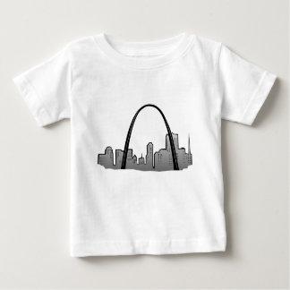 Camiseta De Bebé Dibujo del horizonte de St. Louis