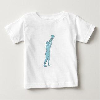 Camiseta De Bebé Dibujo del oscilación de Kettlebell de la aptitud