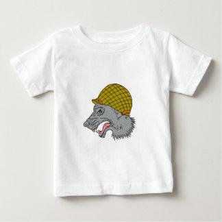 Camiseta De Bebé Dibujo principal del casco WW2 el gruñir del lobo