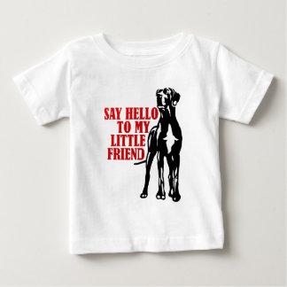 Camiseta De Bebé diga hola a mi pequeño amigo