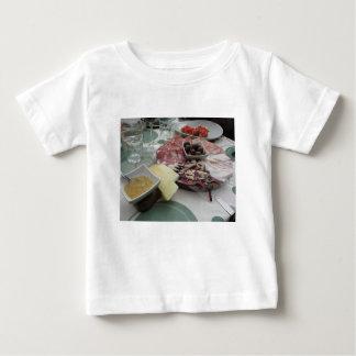 Camiseta De Bebé Disco de cortes fríos con el prosciutto rústico