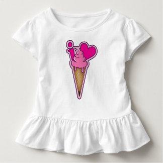 """Camiseta De Bebé Diseñe para los amantes del helado - """"amo el"""